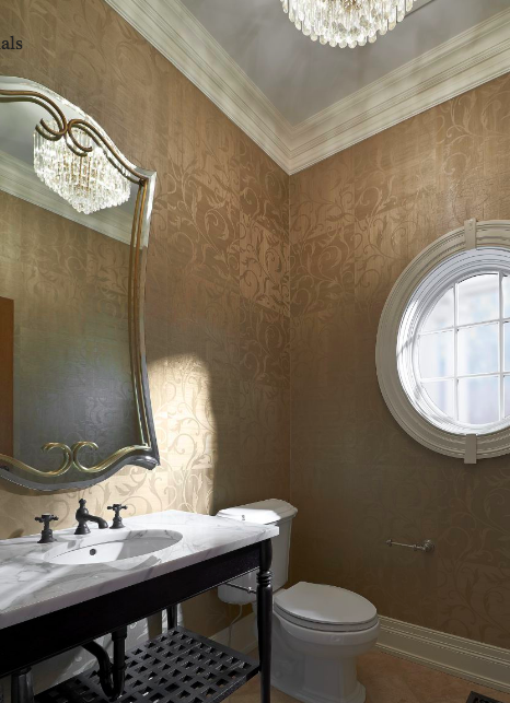 Bathroom Wallcovering Maya Romanoff