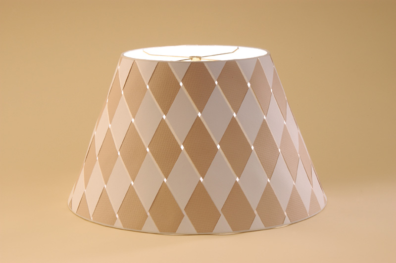 Two color woven paper shade